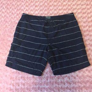 J. Crew pin-striped navy long board shorts